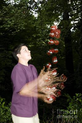Biomechanic Photograph - Juggling Balls by Ted Kinsman