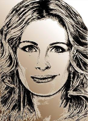 Digital Art - Julia Roberts In 2008 by J McCombie