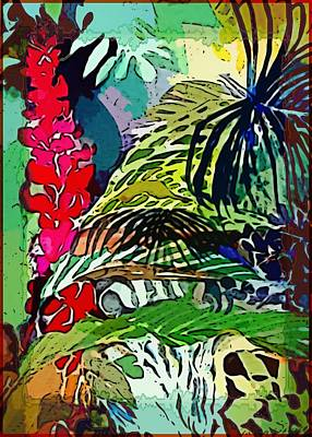 Floral Digital Art Painting - Jungle Boogie by Mindy Newman