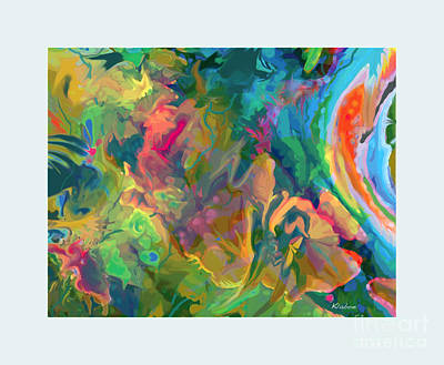 Art Print featuring the digital art Jungle Spring by David Klaboe