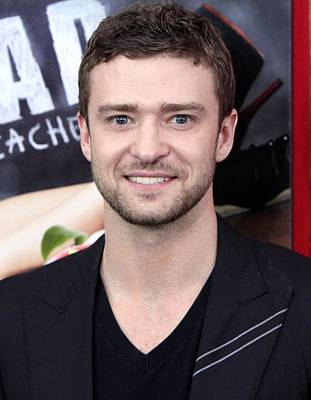 Justin Timberlake Photograph - Justin Timberlake At Arrivals For Bad by Everett