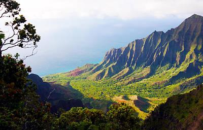 Kalalau Valley Lookout Kauai Art Print