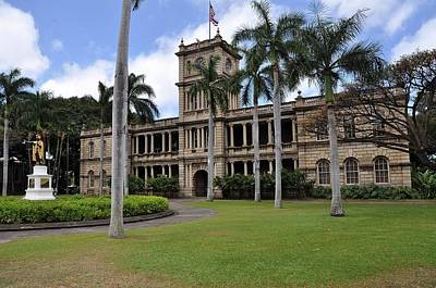 Aliiolani Photograph - Kamehameha And Aliiolani Hale 3 by Donald Sauret