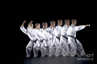 Stroboscopic Images  - Karate Expert by Ted Kinsman