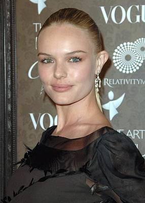 Diamond Earrings Photograph - Kate Bosworth At Arrivals For The Art by Everett