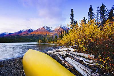 Kathleen Photograph - Kathleen Lake And Mountains, Kluane by Yves Marcoux