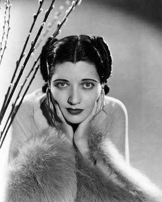 1930s Hairstyles Photograph - Kay Francis, Ca. Mid-1930s by Everett