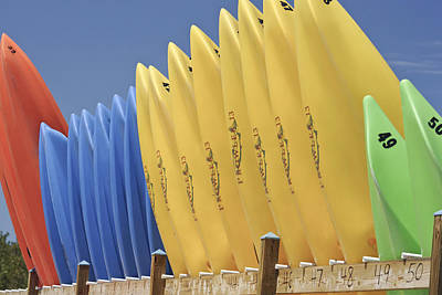 Photograph - Kayaks by Al Hurley