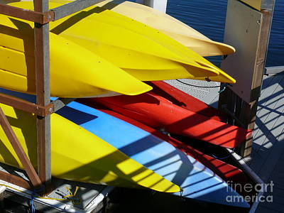 Photograph - Kayaks At The Union Marina by Terri Thompson