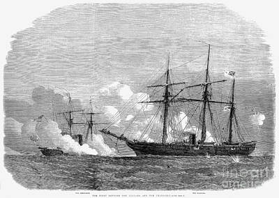 Kearsarge & Alabama, 1864 Art Print by Granger