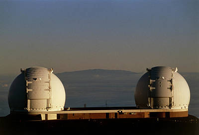 Keck Photograph - Keck Telescope Domes by G. Brad Lewis
