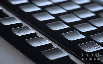Typing Photograph - Keyboard by Blink Images