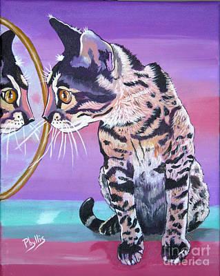 Painting - Kitten Image by Phyllis Kaltenbach
