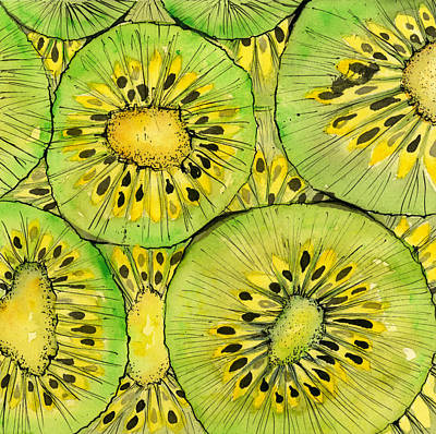 Kiwi Mixed Media - Kiwi Fruit by Sandra Cox