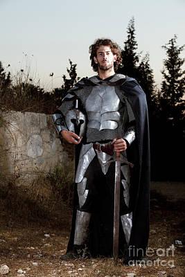 Re-enactments Photograph - Knight In Shining Armour by Yedidya yos mizrachi