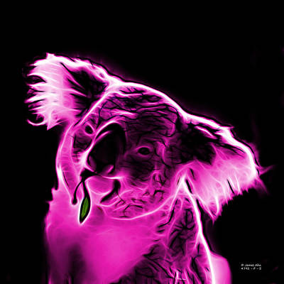 Koala Pop Art Digital Art - Koala Pop Art - Magenta by James Ahn