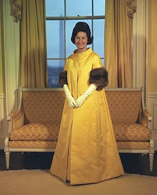 Lady Bird Johnsons Inaugural Gown. The Print by Everett