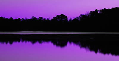 Photograph - Lake Brandt Violet Version by Sheila Kay McIntyre