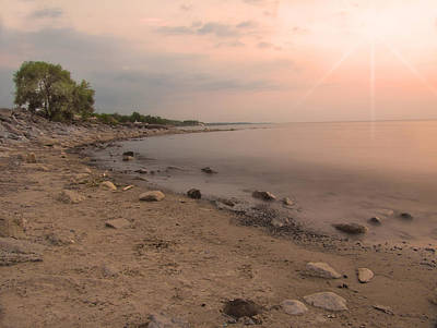 Lake Erie Sunset Art Print by Cindy Haggerty