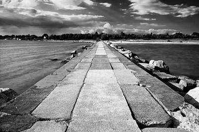 Lake Michigan Jetty Art Print by Tanya Harrison