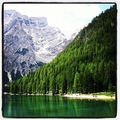 Mountain Photograph - Lake Of Braies by Luisa Azzolini