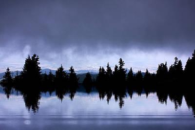 Mountain Reflection Lake Summit Mirror Digital Art - Lake Reflection by Odon Czintos