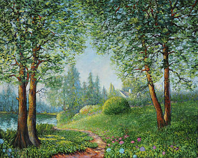 Art Print featuring the painting Lake Steilacoom by Charles Munn