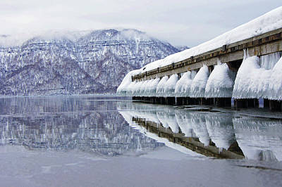 Built Structure Photograph - Lake Towada In Winter by The landscape of regional cities in Japan.