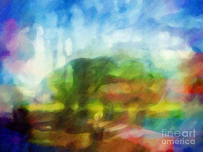 Abstract Impressionism Painting - Landscape Impression by Lutz Baar