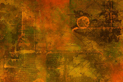 Worn Painting - Landscape Of Mars by Christopher Gaston