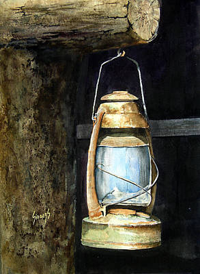 Painting - Lantern by Sam Sidders