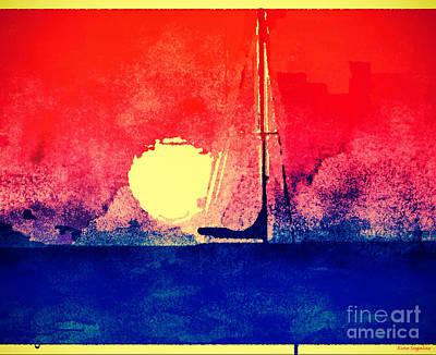 Last Boat Leaving Art Print