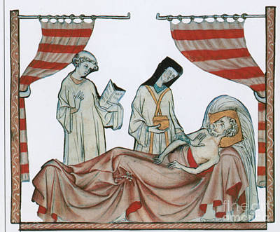 Confession Photograph - Last Rites, Middle Ages by Science Source