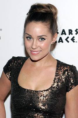 Hair Bun Photograph - Lauren Conrad In Attendance For Lauren by Everett