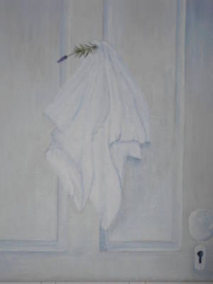 Lavender N Linen Art Print by Siobhan Lawson