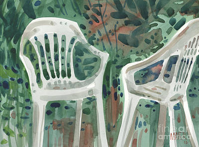 Lawn Chairs Art Print by Donald Maier