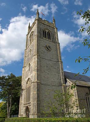 Laxfield Church Tower Art Print by Ann Horn