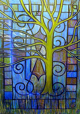 Leaves Of Glass Art Print by Monica Furlow
