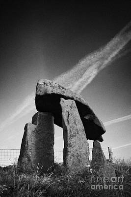 Megalith Photograph - Legananny Dolmen Portal Tomb Ancient Historic Monument County Down Northern Ireland Uk by Joe Fox