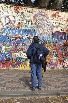 Lennon Wall, Prague Art Print by Mark Williamson