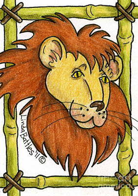 Mixed Media - Leo by Linda Battles