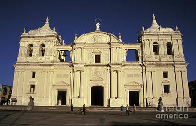 Photograph - Leon Cathedral Nicaragua by John  Mitchell