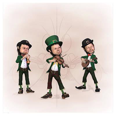 Leprechaun  Musicians Original by John Junek