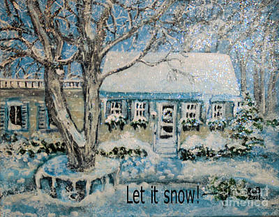 Art Print featuring the painting Let It Snow by Rita Brown