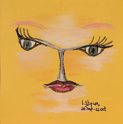 Starsign Painting - Libra by Sladjana Lazarevic