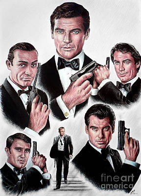 Movie Art Drawing - Licence To Kill by Andrew Read