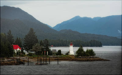 Photograph - Lighthouse - Inside Passage by Gary Rose