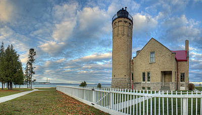Mackinac Photograph - Lighthouse At Mackinac by Twenty Two North Photography