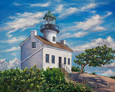 Painting - Lighthouse by Lisa Reinhardt