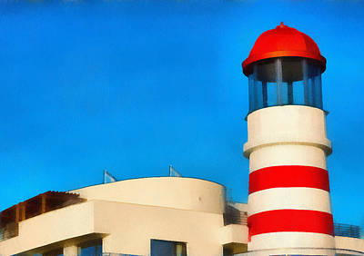 Lighthouse Art Print by Odon Czintos